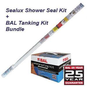 BAL Tanking Kit and Sealux Reg 20 Shower Kit Bundle