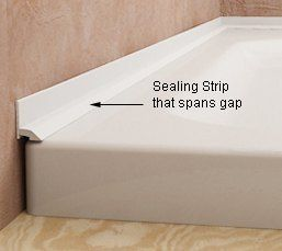Sealing The Gap Between Wall Tiles And Bath Or Shower Shower Seals